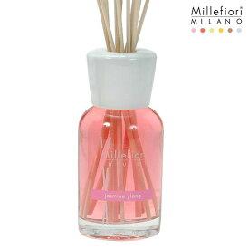 Millefiori ( ミッレフィオーリ ) フレグランス リード ディフューザー ( L ) 【 Natural 】/ ジャスミン イラン Jasmine Ylang 【 正規販売店 】