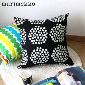 【 メール便 可 】 マリメッコ プケッティ クッションカバー 45×45cm / ブラック×ホワイト (08) (中綿なし) marimekko PUKETTI Cushion Cover 【 正規販売店 】
