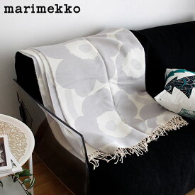マリメッコ ウニッコ ブランケット / ホワイト×ライトグレー 大判 marimekko UNIKKO Blanket 【 正規販売店 】「ラッピング・のし不可」