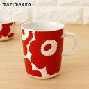 マリメッコ ウニッコ マグ 250ml / ホワイト×レッド (76) marimekko UNIKKO mug cup 【 正規販売店 】