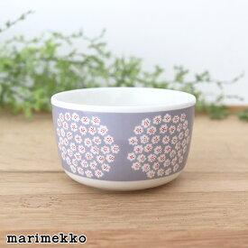 マリメッコ プケッティ ボウル 250ml / グレー×レッド marimekko Puketti bowl 【 日本限定 】【 正規販売店 】