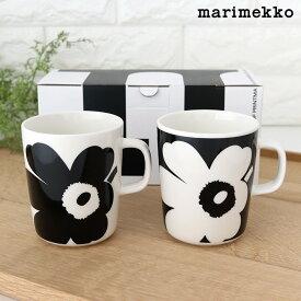 マリメッコ 創立70周年記念 ウニッコ マグ 2個セット / ブラック&ホワイト marimekko JUHLA UNIKKO mug cup 2pcs 【 正規販売店 】