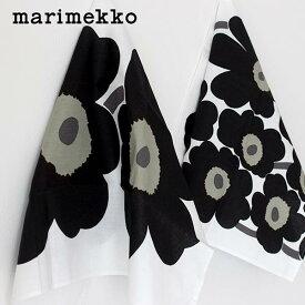 マリメッコ ウニッコ キッチンタオル ティータオル 2枚セット / ホワイト×ブラック marimekko UNIKKO Tea towel 2pcs 【 正規販売店 】