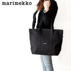 marimekkoUUSIMINIMATKURI/ウウシミニマツクリトートバッグ/ブラック.