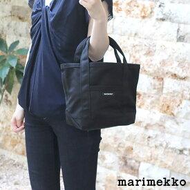 マリメッコ ( marimekko ) ミニ ペルスカッシ トートバッグ RAIDE MINI PERUSKASSI / ブラック  .