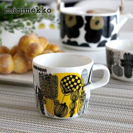 マリメッコ ( marimekko ) コーヒーカップ 取っ手付き SIIRTOLAPUUTARHA ( シイルトラプータルハ )/ イエロー 200ml 【 正規販売店 】