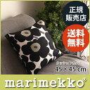 マリメッコ ( marimekko )クッション カバー 45cm × 45cm ( ファスナータイプ )PIENI UNIKKO ( ピエニ ウニッコ )ホワイト & ブラック (クッション中綿なし