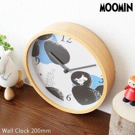 ムーミン ( MOOMIN ) 掛け時計 ウッド フレーム ウォールクロック 「 ストーン 」 φ200mm 【 正規販売店 】