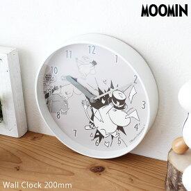 【 送料無料 】 moomin ( ムーミン ) 掛け時計 ウォールクロック 「 ムーミンパパの大脱出 」 φ200mm .