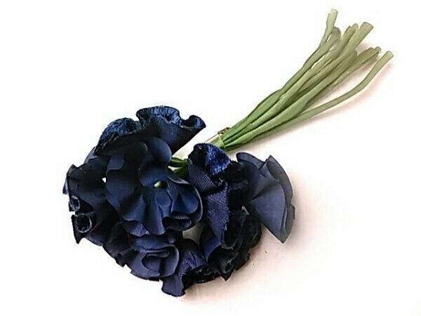 コサージュ ネイビーブルーの小花R 造花