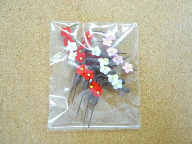 お正月飾り 造花 梅の枝の造花(5本1袋) お祝いのときに