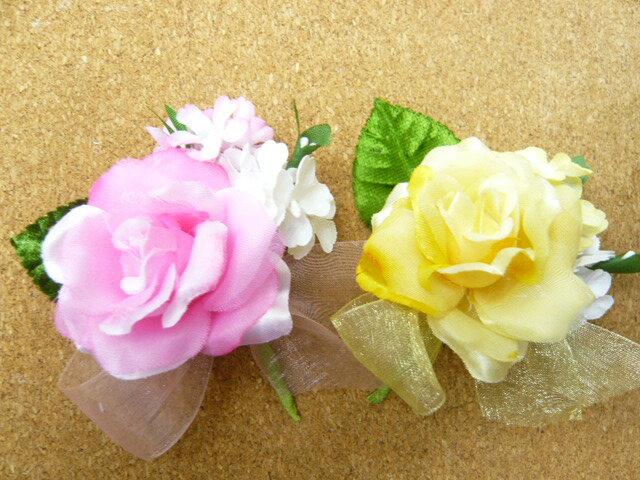 コサージュ 卒園式 卒業式 入学式 入園式 子供用 旅立ちのバラ サテンローズ(1個)
