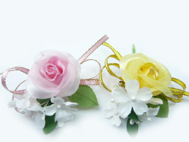 コサージュ 卒園式 卒業式 入学式 入園式 子供用 バラ1輪 完成品(1個) 花飾り・胸花 2分の1成人式