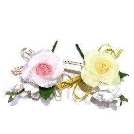 コサージュ バラ1輪 完成品 (1個) 卒園式 卒業式 入学式 入園式 子供用 花飾り 胸花 2分の1成人式