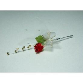 造花 ギフト フラワーブーケ バラ401金パールリボン「バレンタイン」 花束になったラッピングツール&ケーキピック