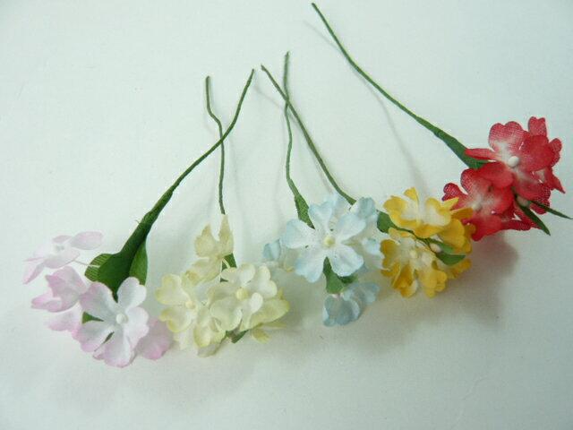 造花 ハイデリンジャー 202ボカシ ラッピング フラワー 髪飾りの作り方を動画で紹介