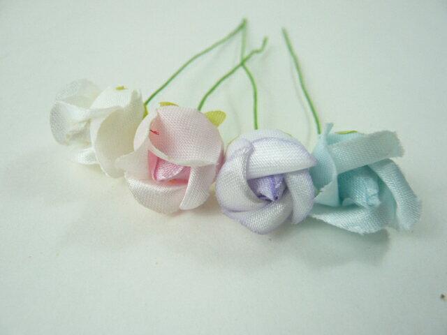 アウトレット造花 バラ 415 ラッピング フラワー 髪飾りの作り方を動画で紹介