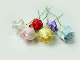 アウトレット造花 ラッピング フラワー バラ401 髪飾りの作り方を動画で紹介