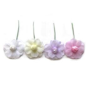 アウトレット造花 バラ 406 ラッピング フラワー 髪飾りの作り方を動画で紹介