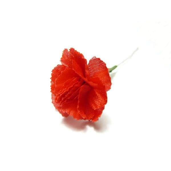 造花・母の日◆ラッピング フラワー ミニカーネーション ミニ (1本)