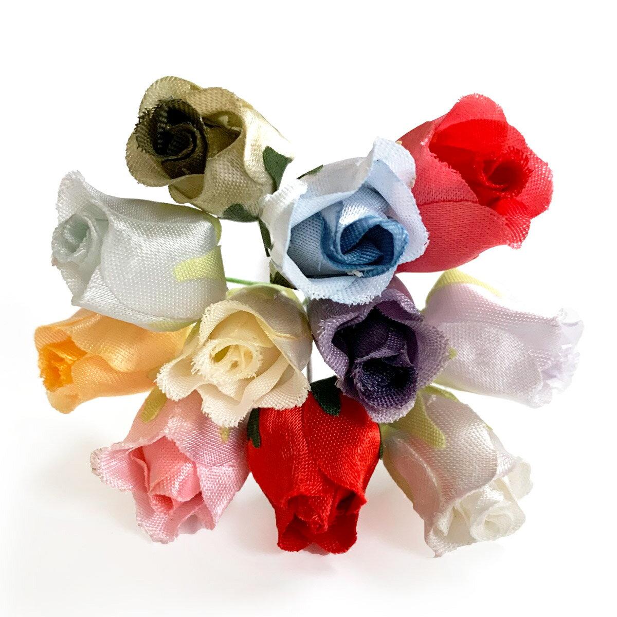 造花 蕾バラ 418 ラッピング フラワー 髪飾りの作り方を動画で紹介