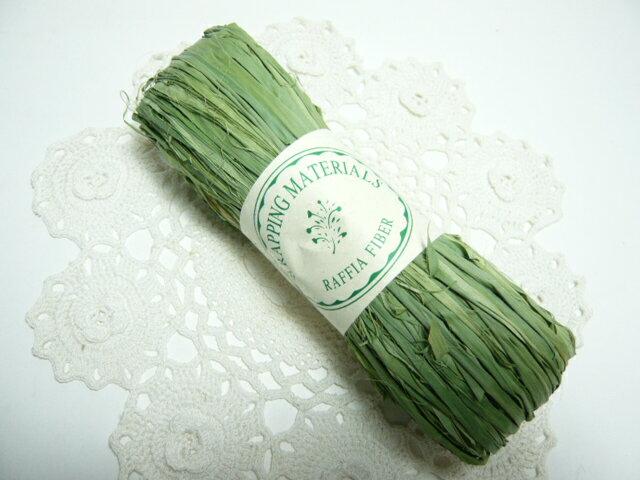ラフィア◆編んだり結んだりの手芸材料として◆60110-730ラフィア若竹(50g)※帽子やバスケットが作れます※