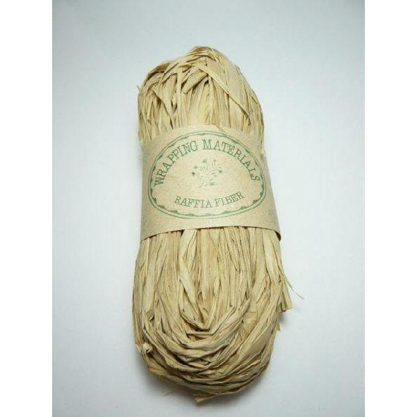 ラフィア◆ラッピングや編んだり結んだりの手芸材料として◆60110-000ラフィアナチュラル(50g)※帽子やバスケットが作れます※