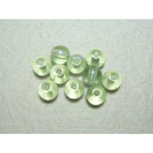 グラスパール淡緑7mm(50個) 手芸や手作りアクセサリー ラッピングに