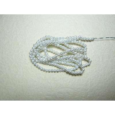 パール・手芸材料◆流行のビーズ手芸や手作りアクセサリー・ラッピングに使う パール白3mm 1本