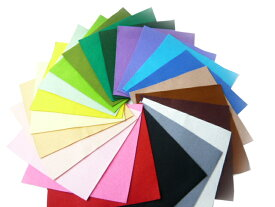 カラーフェルト ソフト 20cm×20cm(1枚)(8色) 手芸材料 アップリケ スイーツ 工作 服飾 ラッピング