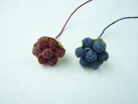 【処分品】実物 フルーツ きいちご 7粒 ガク付 花材 ドライフラワー(1本)