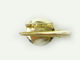 コサージュピン&ヘアクリップ S 2WAY 金 (1個) ブローチピン ヘアピン アクセサリー 手芸材料