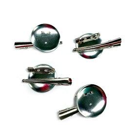 コサージュピン&ヘアクリップ SSサイズ 2WAY銀(1個) ブローチピン ヘアピン アクセサリー 手芸材料