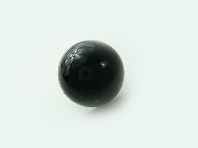 さし目・眼・鼻・アニマルアイ◆プードル・クマ・ねこのまん丸なソリッドアイ 24mmBC黒穴あき(1個)