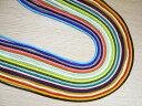 紐 江戸打ち紐中(太さ約3mm)100cm お試し 各色1本ずつのセット(22色各1本)(22本) 手芸材料