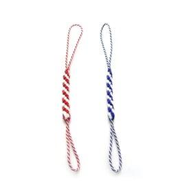 根付紐 (1本) 江戸古代根付紐(赤白 紫白) ちりめん細工や手作りフィギュアをとりつける 和風携帯ストラップ