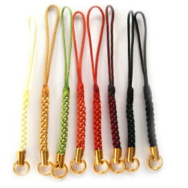 根付紐 カツラ付 丸カン付 江戸古典 ちりめん細工や手作りフィギュアを取り付ける和風携帯ストラップ金具