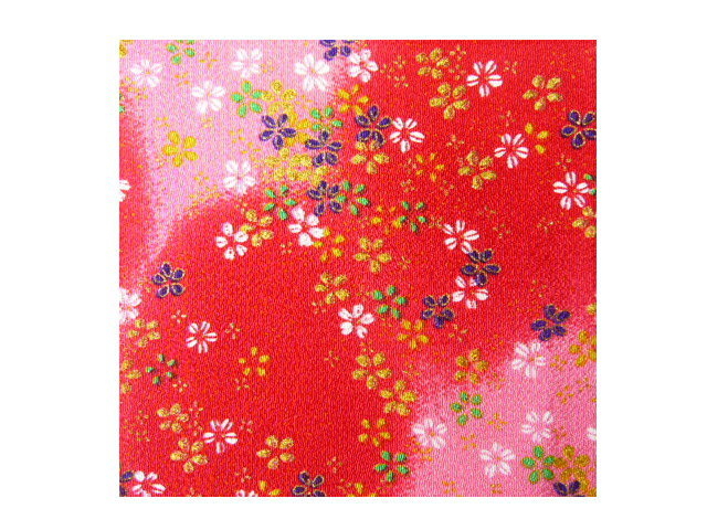 紙張りオニちりめん友禅金彩(16cm×16cm)1枚 裏張り・折り紙・おりがみ・オリガミ