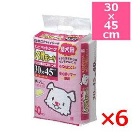 ボンビアルコン しつけるシーツ 幼犬用 レギュラー 40枚入り×6個 30×45cm (s6810000)●