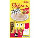 【正規品】いなばペットCIAO)ちゅ〜る トリササミ&日本海産カニ 14g*4(12600104)
