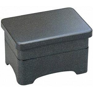 特大丼重 グレー乾漆内朱 2段 A うな重 器 容器 うな重箱 うなぎ 重箱