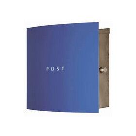 【送料無料】 ボン(ステンレス) ブルー AAE24※※ マックスノブロック シンプル デザイン 郵便ポスト 郵便受け 新築 祝い 戸建て リフォーム ※※