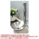 【送料無料】 カクダイ ステンレス水栓柱(分水孔付)+水鉢+蛇口2個セット ※※ KAKUDAI ステンレス 立水栓 水鉢 蛇口 ※※