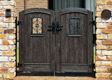 【送料無料】 ボレロ門扉2型 07-12両開き柱セット LIXIL おしゃれ アルミ 鋳物 錆びにくい アンティーク調