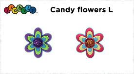 【クロックス jibbitz ジビッツ】candy flower large/キャンディ フラワー ラージ