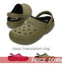 40%OFF【クロックス crocs 】 classic lined pattern clogクラシック ラインド パターン クロッグ