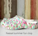 crocs【クロックス レディース】freesail summer fun clog/フリーセイル サマーファン クロッグ ウィメン