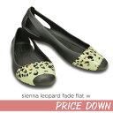 【クロックス crocs レディース】 sienna leopard fade flat/シエンナ レオパード フェイド フラット