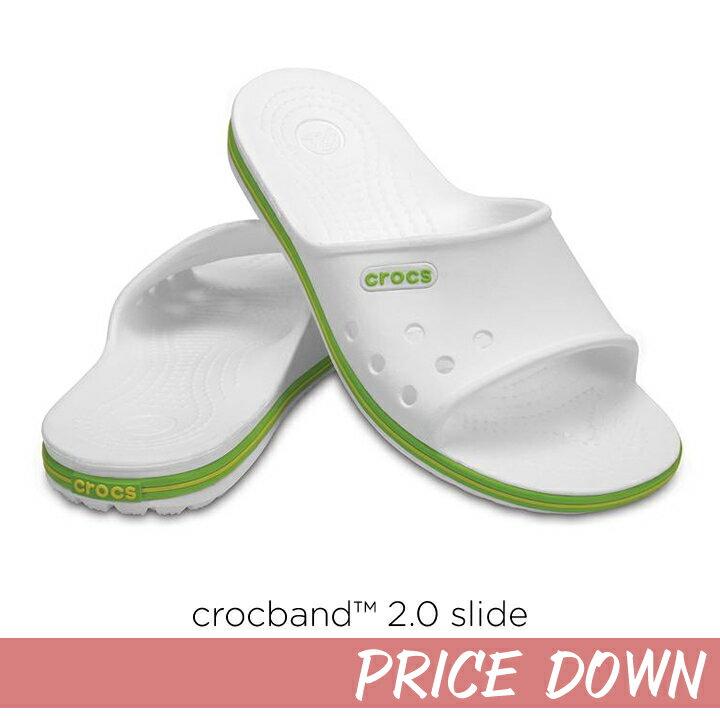 40%OFF【クロックス crocs 】 crocband2.0 slideクロックバンド2.0 スライド