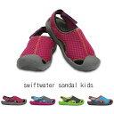 【クロックス crocs キッズ】 swiftwater sandal kids/スウィフトウォーター サンダル キッズ